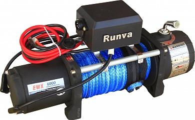 Лебёдка электрическая 12V Runva 6000 lbs 2500 кг (синтетический трос)