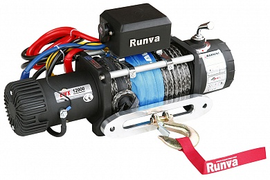 Лебёдка электрическая 24V Runva 12000 lbs 5700 кг (синтетический трос)