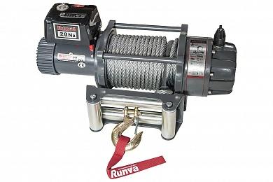 Лебёдка электрическая 12V Runva 20000 lbs (влагозащищенная)