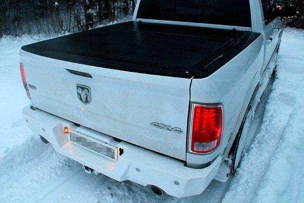 Бампер задний силовой на Dodge Ram