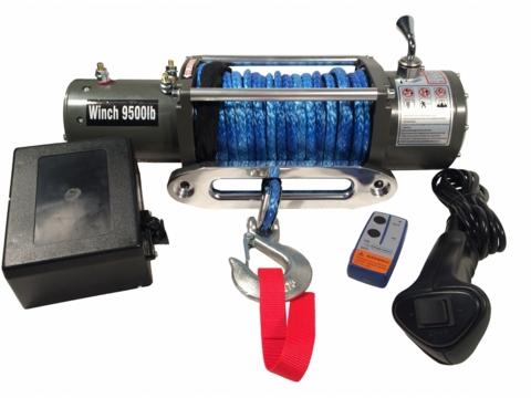 Лебедка Electric Winch 9500 lbs/4200kg 12v (трос синтетика 10*25)