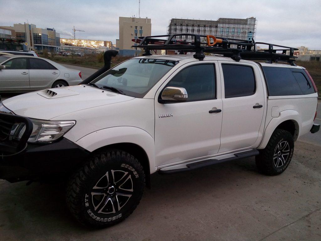 Багажник на пикап с кунгом для Тойота Хайлюкс.