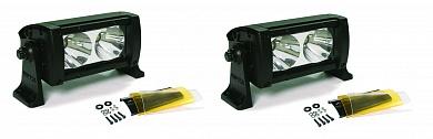 """Фара светодиодная Dual 5"""" противотуманная 2 шт.х 2 LED с фильтром"""