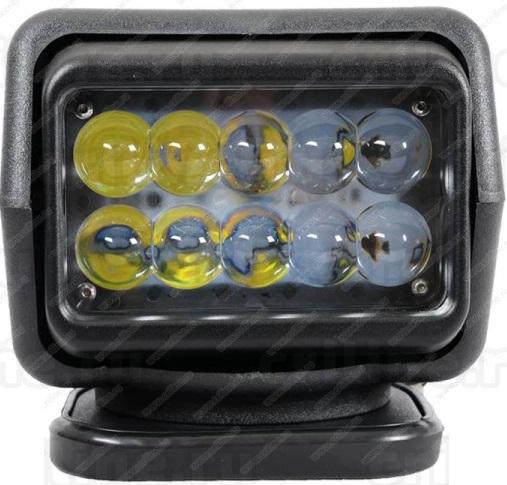 Фароискатель CH015 12V 50W LED с дистанционным управлением Белый (цоколь H3) 180*180*175mm на магните