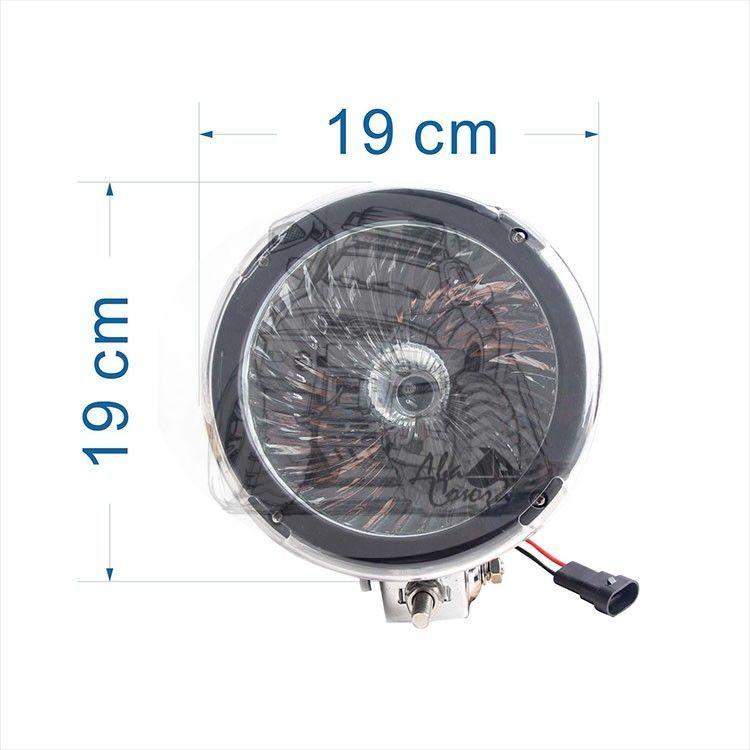 """Фара ксенон 7"""" CH046 12V 35W (цоколь H3) габаритные размеры 190*190*150мм"""