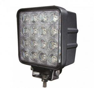 Светодиодная LED фара дальнего света, квадратная LOYO UNIVERSAL LY8048