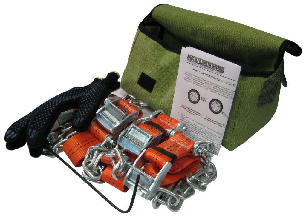 """Браслеты противоскольжения """"4WD"""" R16-R21 для шин 205-235 мм (к-т 4 шт.)"""