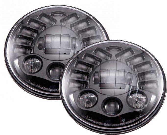 Светодиодные тюнинг фары LoyoLight с указателем поворота (7 дюймов LOYO LED NT): ближний и дальний свет для внедорожников 70 ВТ