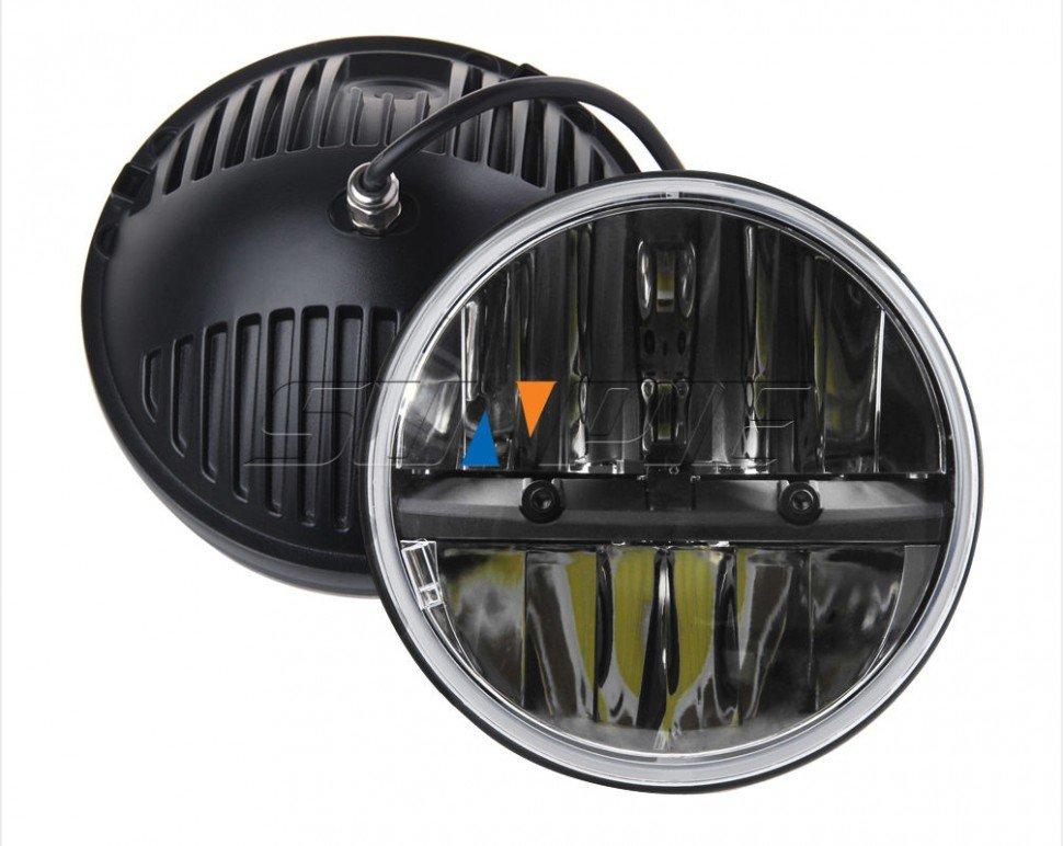 Светодиодные тюнинг фары LoyoLight (7 дюймов LOYO LED 2G): ближний и дальний свет для внедорожников