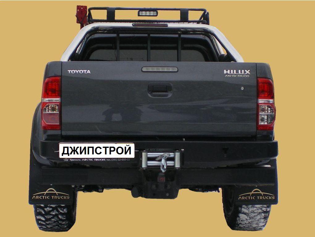 Бампер задний Toyota HiLux с площадкой лебедки