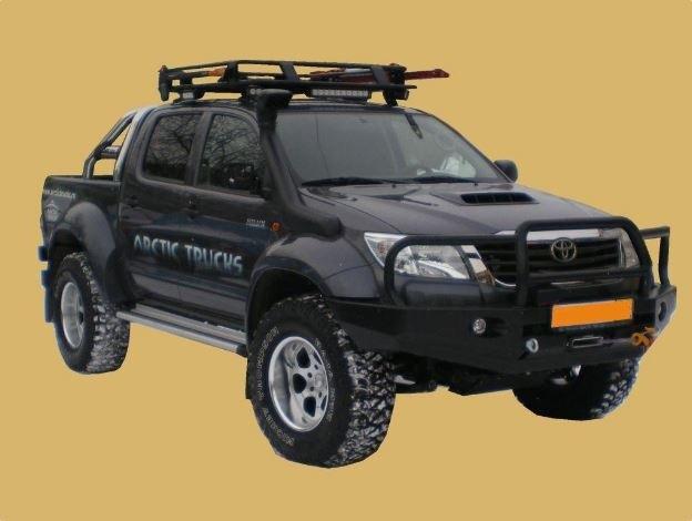 Бампер передний Toyota HiLux Arctic trucks с кенгурином