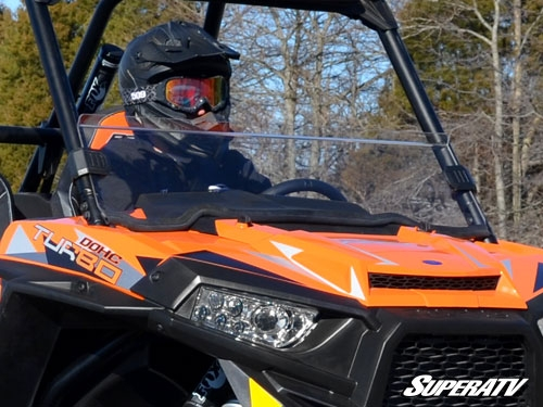Стекло ветровое Polaris RZR 1000, RZR 900 15+, XP Turbo 1/2 SuperATV HWS-P-RZR1K-001-75