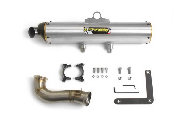 Глушитель квадроцикла, алюминий BRP/CanAm Commander 800/1000 2010-2014 Two Brothers M-7 Slip-on Exhaust System 005-2960406V